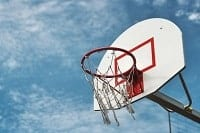 Photo of a basketball basket