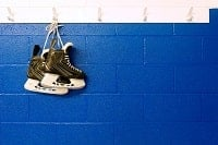 2 ice hockey shoes