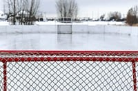 Ice hockey field Canada