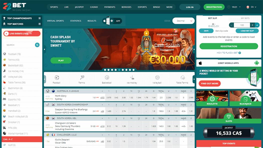 22Bet Sports Website_1
