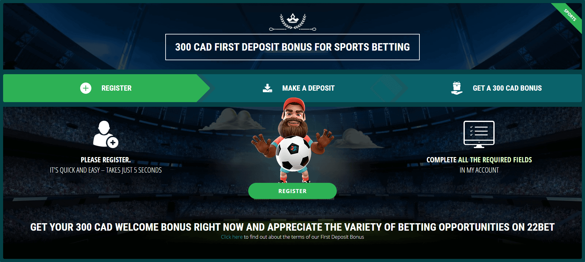Two attractive 22Bet Sports promotions_2